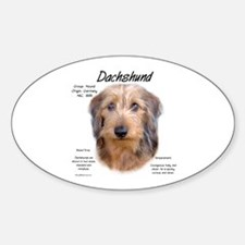 Wirehaired Dachshund Oval Decal