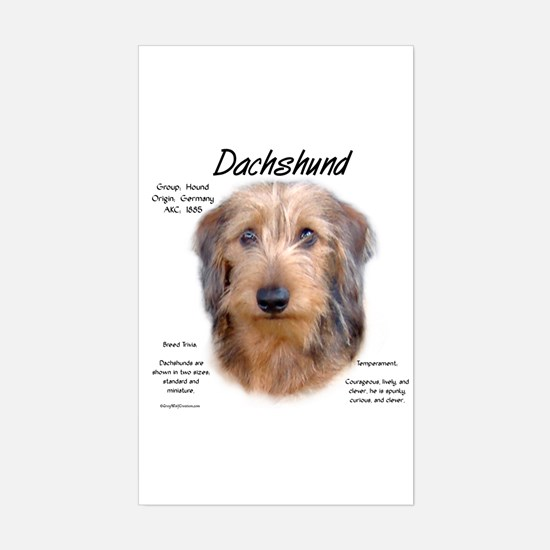 Wirehaired Dachshund Sticker (Rectangle)