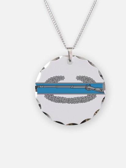 Combat Infantryman Badge Necklace Circle Charm