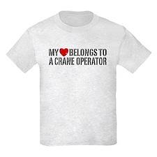My Heart Belongs To A Crane Operator T-Shirt