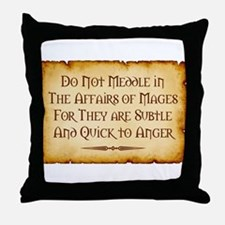 Mages Throw Pillow