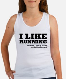 I Like Running and Dessert Women's Tank Top