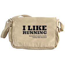 I Like Running and Dessert Messenger Bag