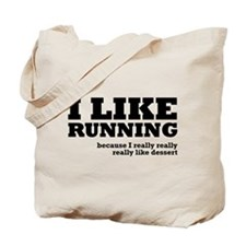 I Like Running and Dessert Tote Bag