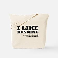 I Like Running and Dessert Tote Bag