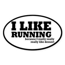 I Like Running and Dessert Decal