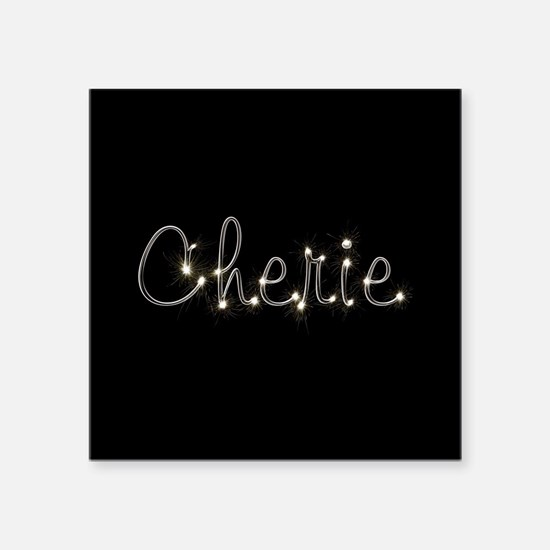 "Cherie Spark Square Sticker 3"" x 3"""