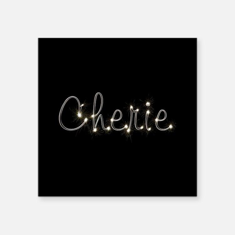 "Cherie Spark Square Sticker 3"" x 3"""
