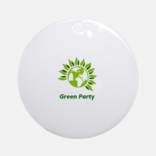 Green Party Ornament (Round)