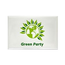 Green Party Rectangle Magnet