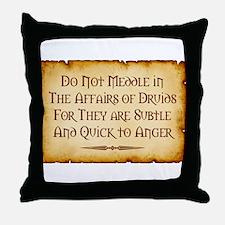 Druids Throw Pillow