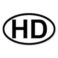Help Desk National oval sticker