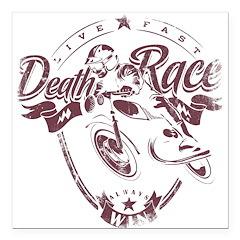 Death Race Square Car Magnet 3
