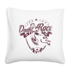 Death Race Square Canvas Pillow