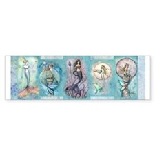 Many Mermaids by Molly Harrison Bumper Sticker