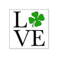 "Shamrock Love Square Sticker 3"" x 3"""