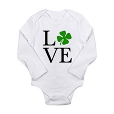 Shamrock Love Long Sleeve Infant Bodysuit