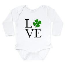 Shamrock Love Long Sleeve Infant Bodysuit