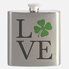 Shamrock Love Flask