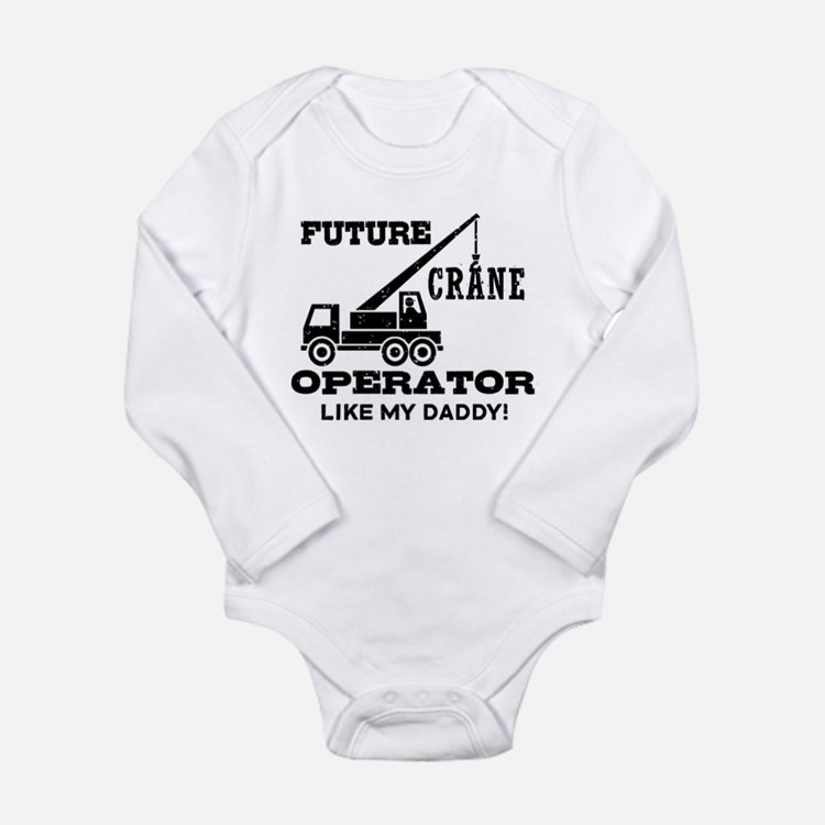 Future Crane Operator Long Sleeve Infant Bodysuit