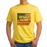 Impeach trump Mens Yellow T-shirts