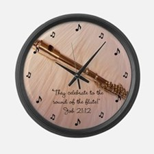 Flute Sound Celebration Large Wall Clock