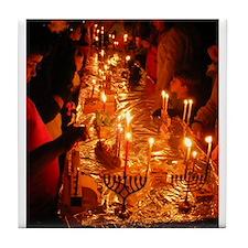 Hanukkah - Don't let the light go out. Tile Coaste