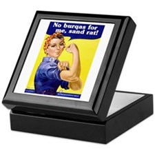 No Burqas Rosie Riveter Keepsake Box