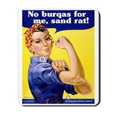 No Burqas Rosie Riveter Mousepad