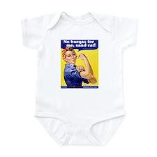 No Burqas Rosie Riveter Infant Creeper