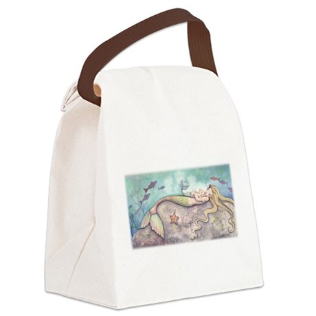 Mermaid Lullaby Canvas Lunch Bag