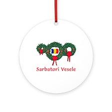 Romania Christmas 2 Ornament (Round)