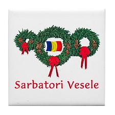 Romania Christmas 2 Tile Coaster