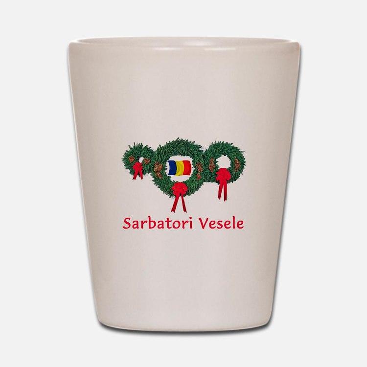 Romania Christmas 2 Shot Glass
