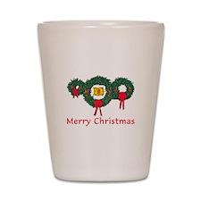 Scotland Christmas 2 Shot Glass