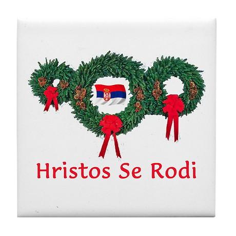Serbia Christmas 2 Tile Coaster