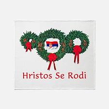 Serbia Christmas 2 Throw Blanket