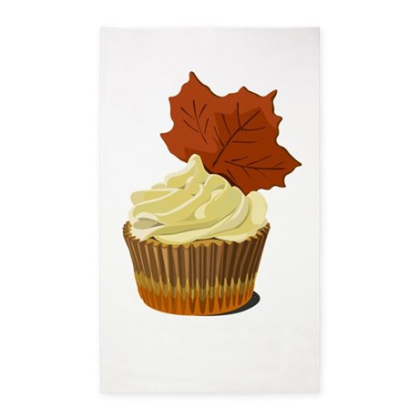 Autumn leaf cupcake 3'x5' Area Rug
