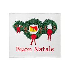 Sicily Christmas 2 Throw Blanket
