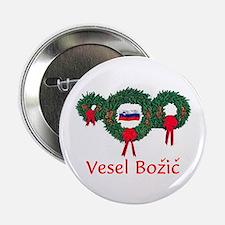 """Slovenia Christmas 2 2.25"""" Button"""