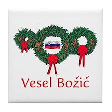 Slovenia Christmas 2 Tile Coaster