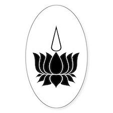 Ayyavazhi Lotus Symbol Oval Decal