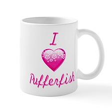I Love/Heart Pufferfish Mug