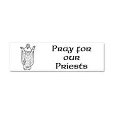 Cute Pray for our priests 3 Car Magnet 10 x 3
