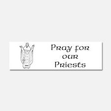 Unique Pray for our priests 3 Car Magnet 10 x 3