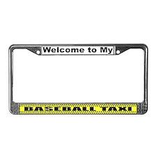 Mom's Baseball Taxi License Plate Frame