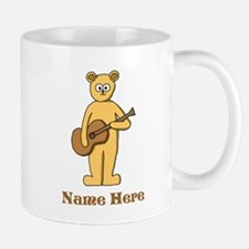 Bear Guitarist Custom Text. Mug