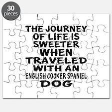 Traveled With English Cocker Spaniel Dog De Puzzle