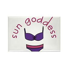 Sun Goddess Rectangle Magnet