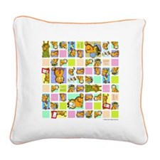 Classic Garfield Squares Square Canvas Pillow
